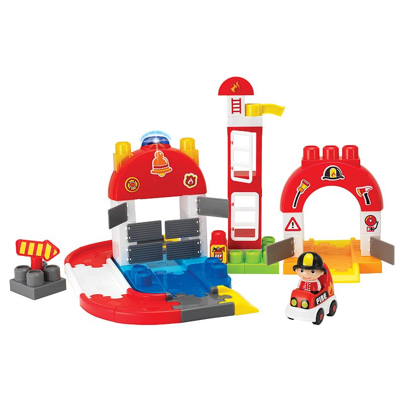 I-Builder 65-Piece Fire Station Set by Winfun