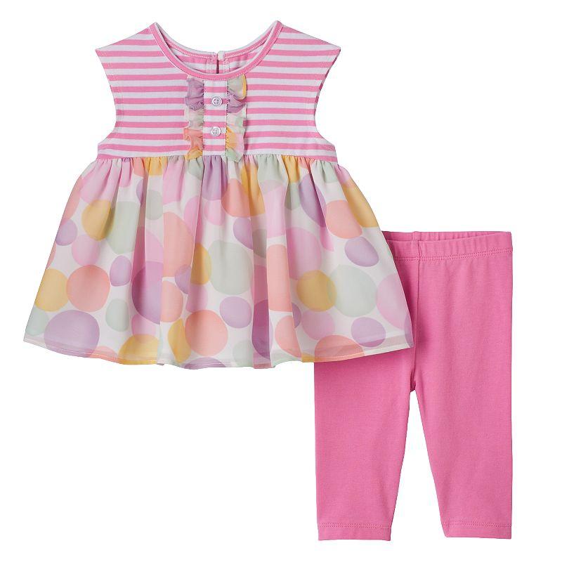 Toddler Girl Marmellata Classics Polka-Dot Tunic & Capri Leggings Set