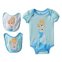 Disney's Cinderella Baby Girl Bodysuit & Bib Set
