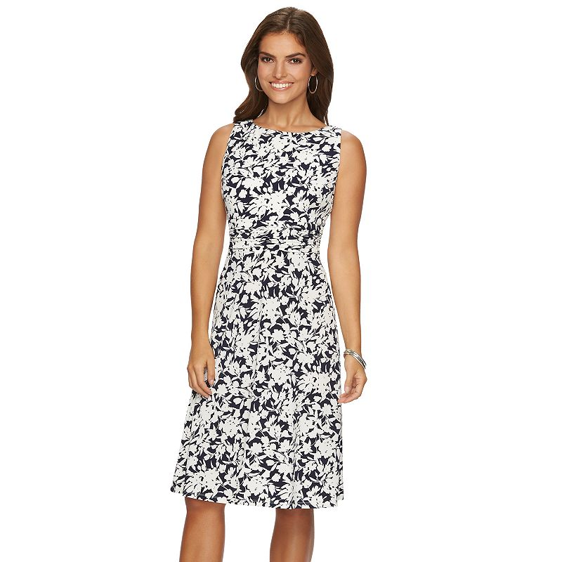 Women's Chaps Printed Ruched Dress