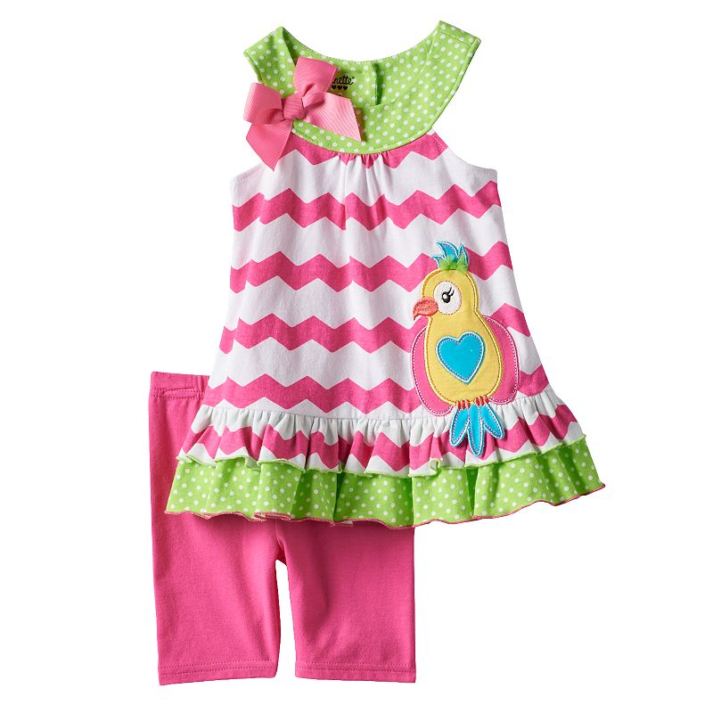 Baby Girl Nannette Parrot Tank Top & Leggings Set