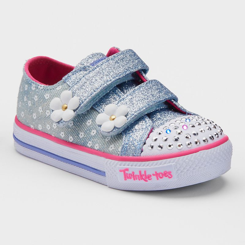 Skechers Twinkle Toes Shuffles Darling Daisy Toddler Girls' Light-Up Sneakers