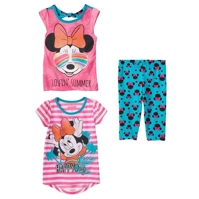 Disney's Minnie Mouse Baby Girl 3-pc. Tee & Leggings Set