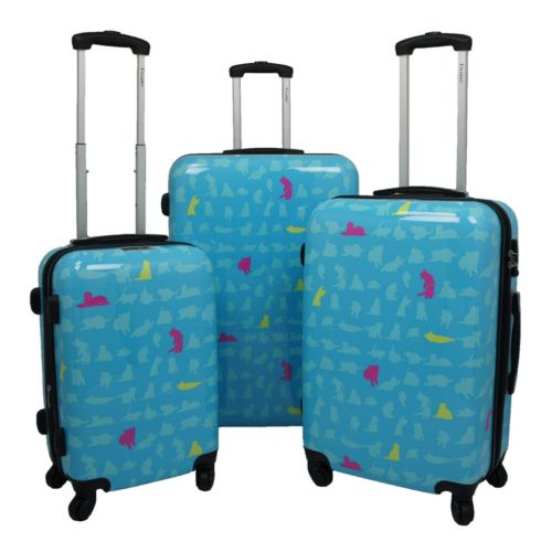 Chariot Summer 3-Piece Hardside Spinner Luggage Set