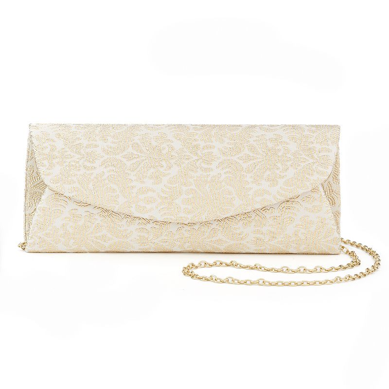 Lenore by La Regale Metallic Jacquard Clutch