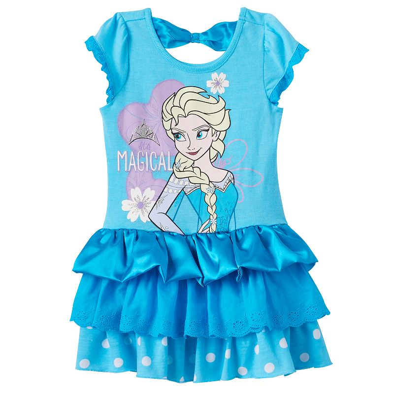 Disney's Frozen Elsa Bow-Back Knit Dress