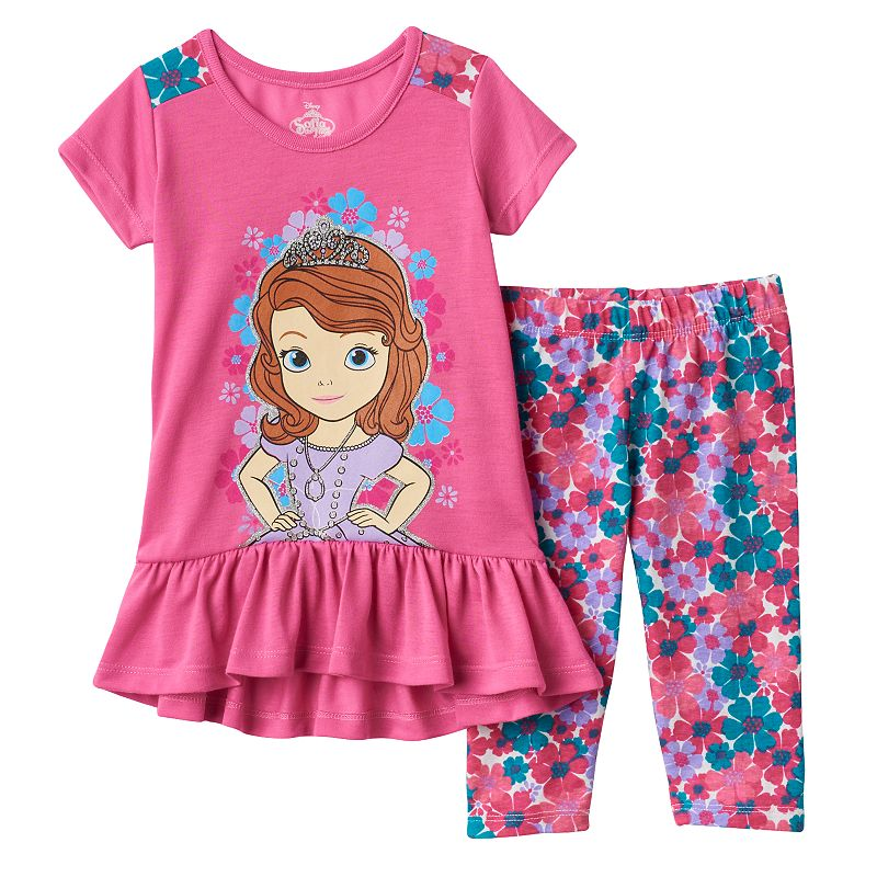 Disney's Sofia the First Toddler Girl Flower Tunic & Capri Leggings Set