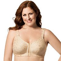 Elila Bra: Jacquard Front-Close Wire-Free Full-Figure Bra 1515