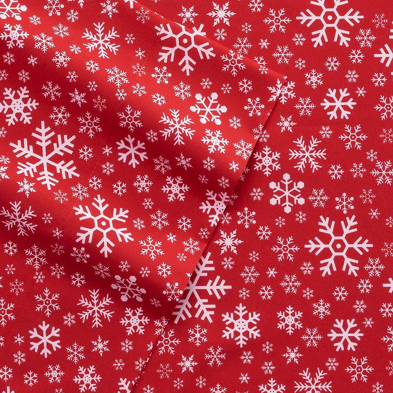 Holiday Print Microfiber Sheet Set