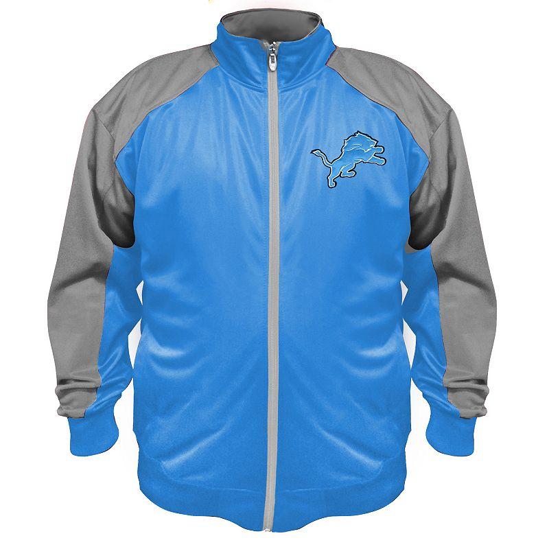 Big & Tall Majestic Detroit Lions Tricot Jacket