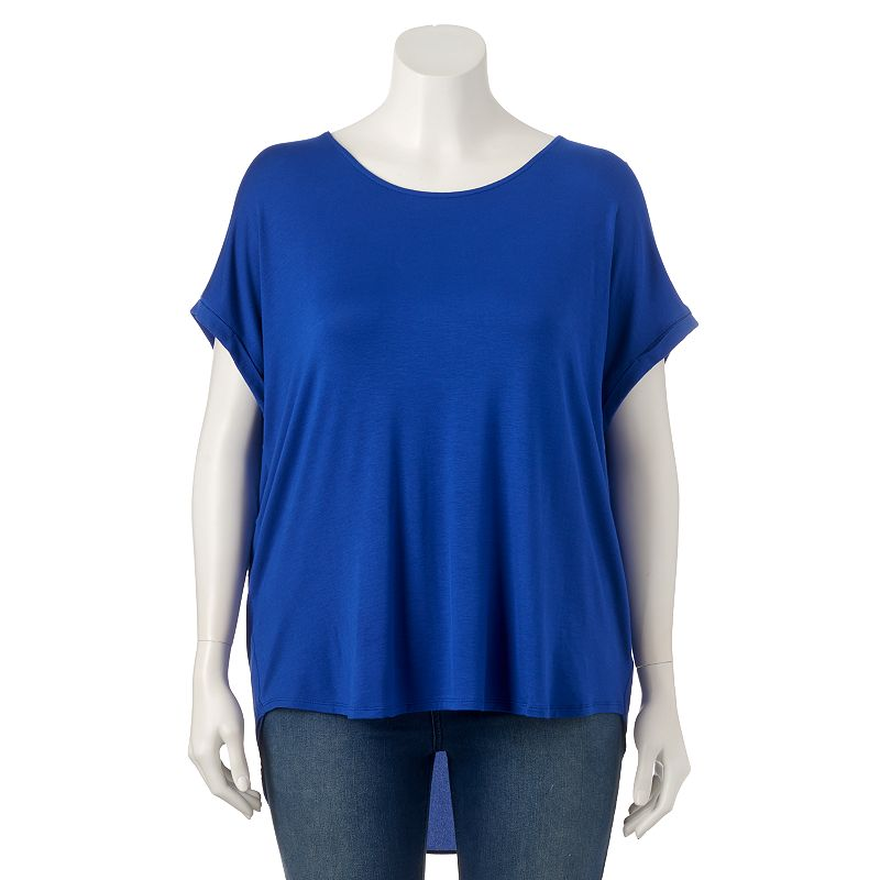 Plus Size Apt. 9® Split-Back Scoopneck Top