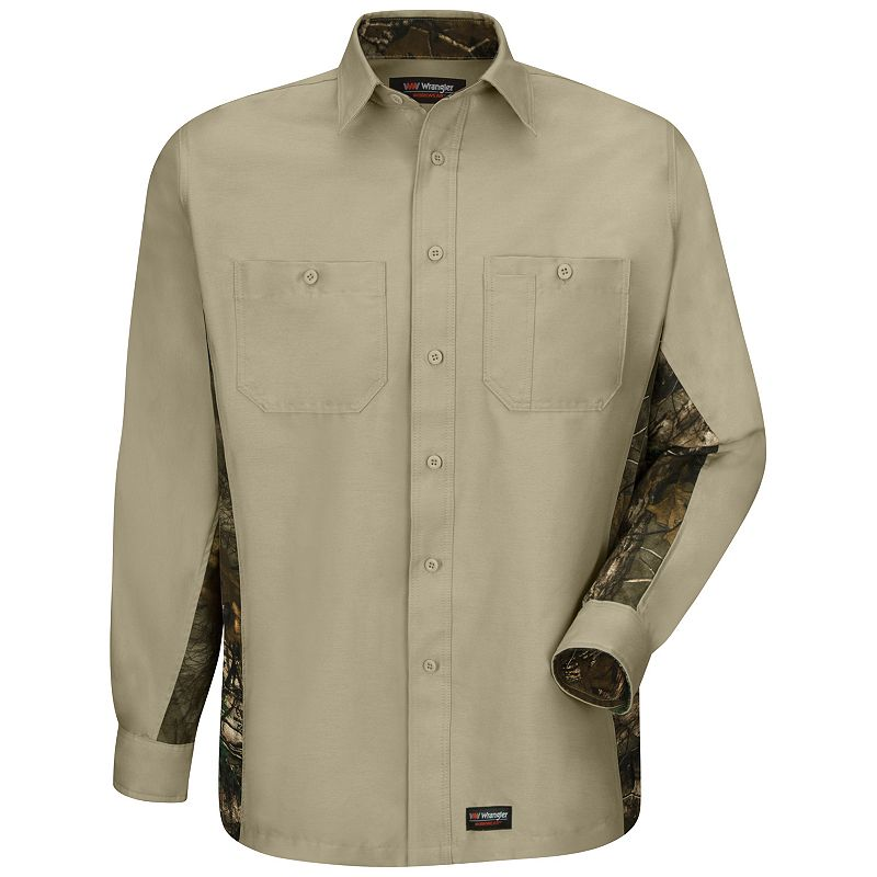 Men's Wrangler Workwear Camo Work Shirt
