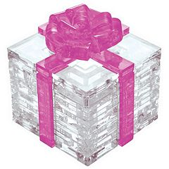 BePuzzled 38-pc. Pink Bow Gift Box 3D Crystal Puzzle by