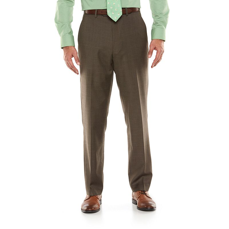 Men's Chaps Performance Classic-Fit Wool-Blend Comfort Stretch Flat-Front Suit Pants