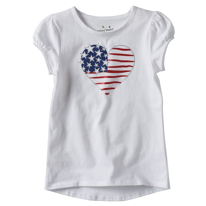 Girls 4-7 Jumping Beans® Patriotic Glitter Graphic Tee