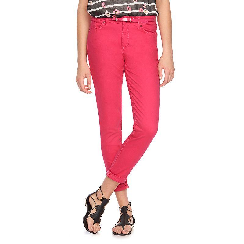 Women's ELLE™ Cuffed Skinny Jeans