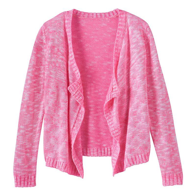 Girls 7-16 & Plus Size Blush & Bloom Marled Cardigan