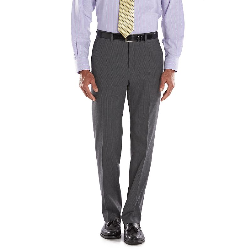Men's Chaps Performance Classic-Fit Shadow Wool-Blend Comfort Stretch Flat-Front Suit Pants
