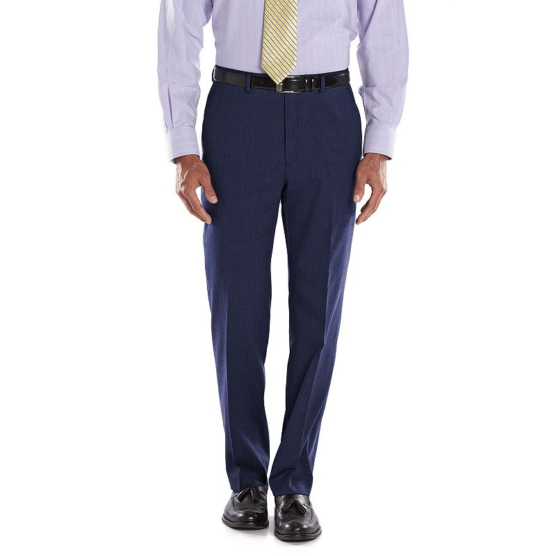 Men's Chaps Performance Classic-Fit Shadow Wool-Blend Comfort Stretch Flat-Front Suit Pants