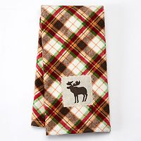 Celebrate Local Life Together Plaid Moose Kitchen Towel