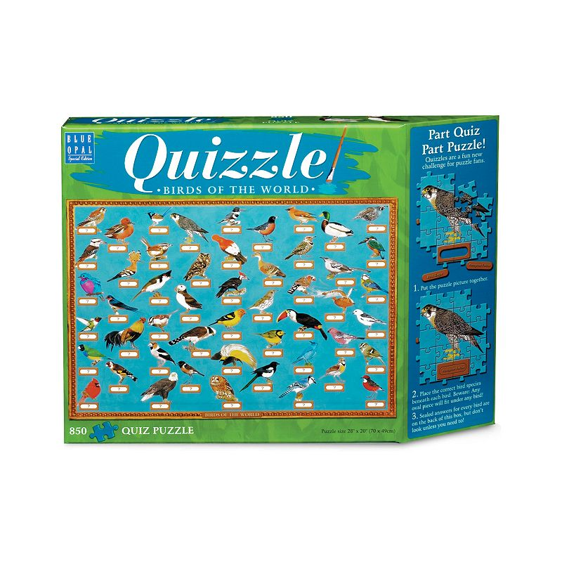 Blue Opal 850-pc. Birds of the World Quizzle Jigsaw Puzzle
