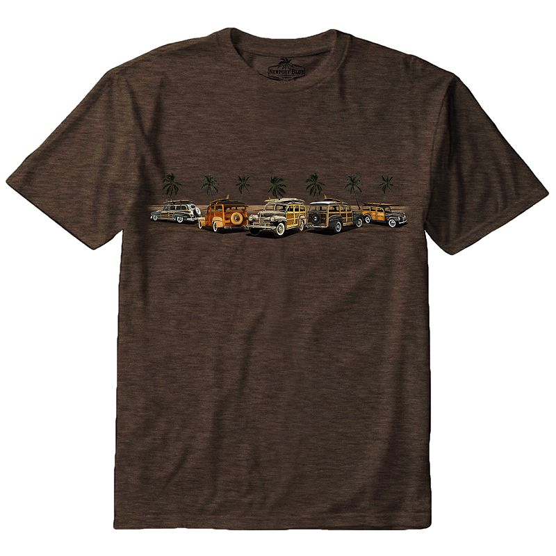 Men's Newport Blue Woodie Sunset Band Tee