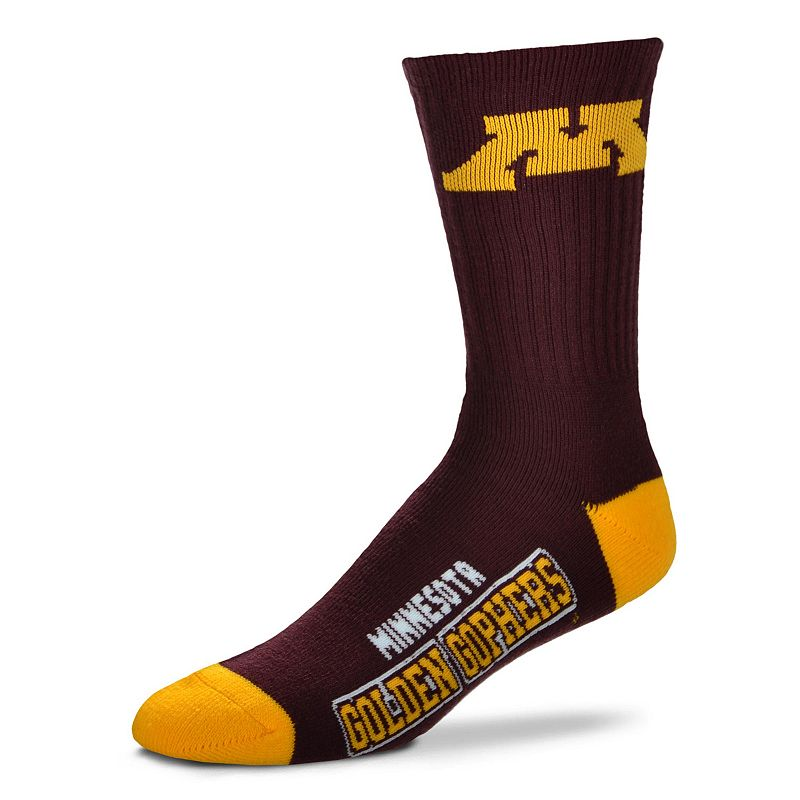 Adult For Bare Feet Minnesota Golden Gophers Team Color Crew Socks
