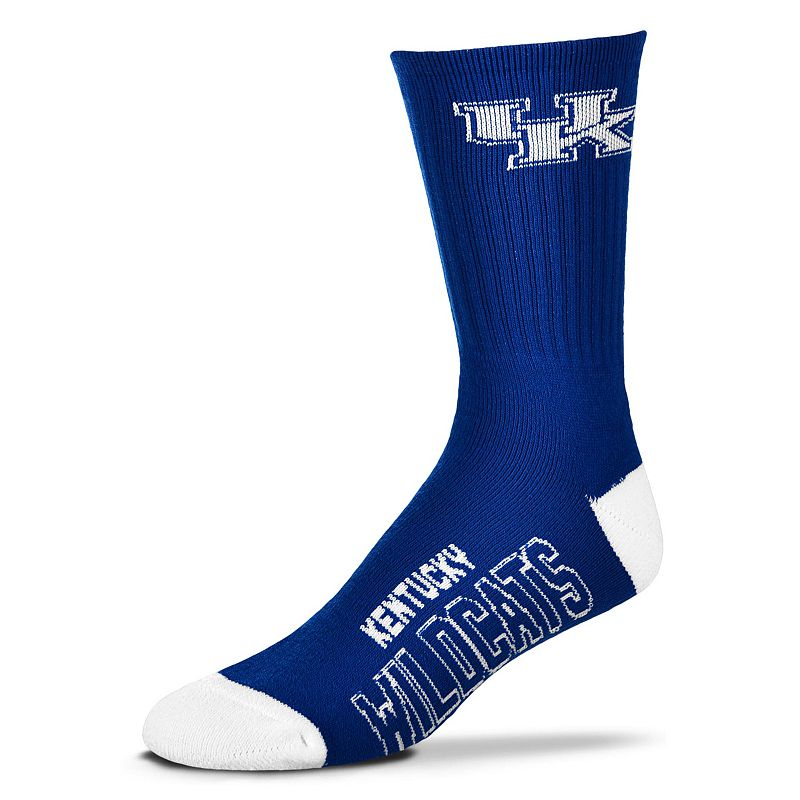 Adult For Bare Feet Kentucky Wildcats Team Color Crew Socks