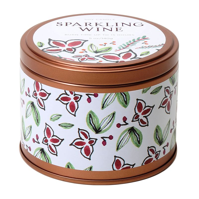 Sparkling Wine 5-oz. Soy Candle Tin