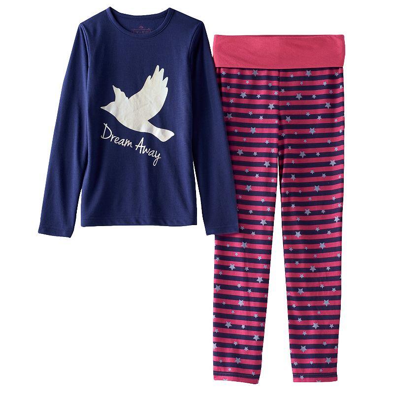 Girls 4-12 Chloe & Olivia Pajama Set