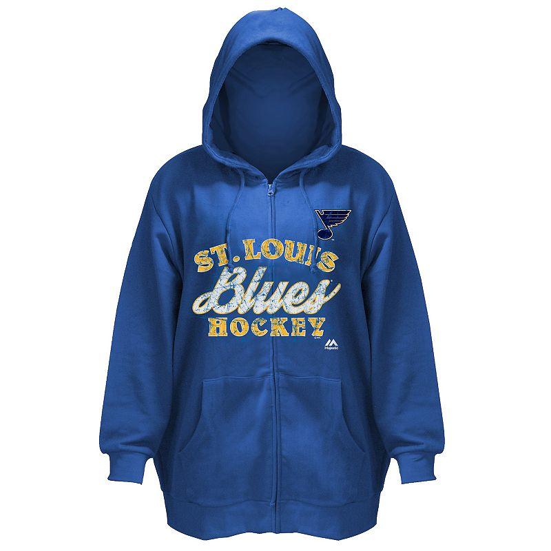 Plus Size Majestic St. Louis Blues Full-Zip Hoodie