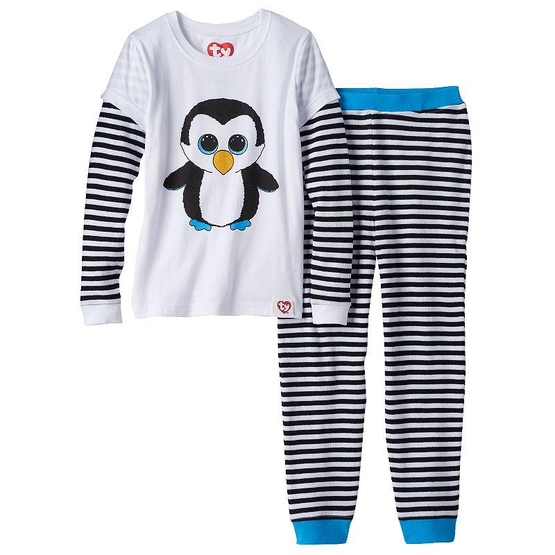 Girls 4-10 TY Beanie Boo's Waddles Thermal Mock-Layered Pajama Set