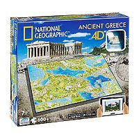 4D Cityscape: National Geographic - Ancient Greece 600-Piece 3D Time Puzzle by 4D Cityscape