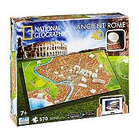 4D Cityscape National Geographic Series Ancient Rome Time Puzzle