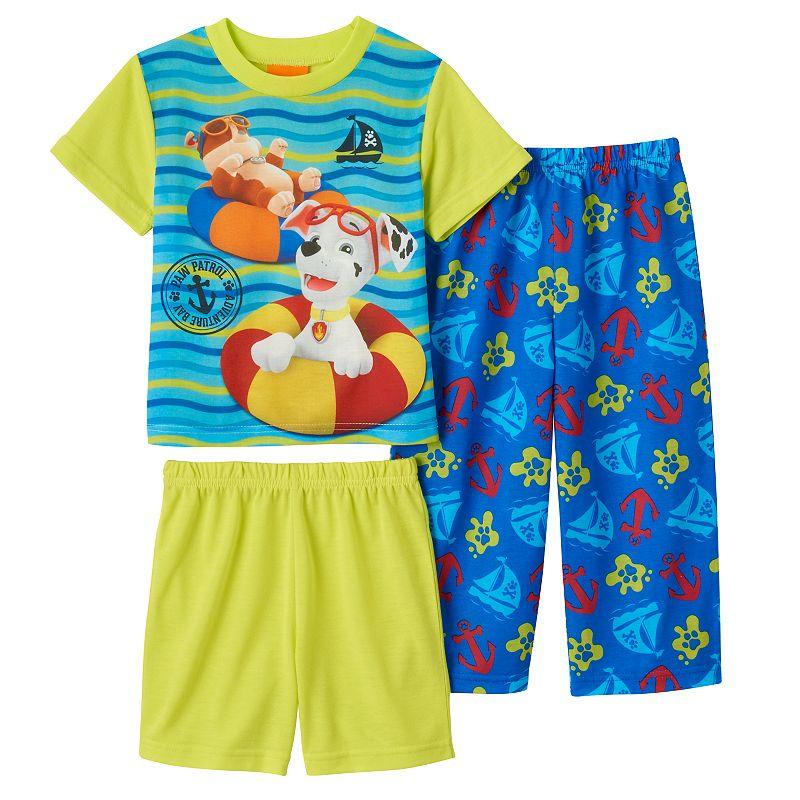 Toddler Boy 3-pc. Paw Patrol Marshall & Rubble Nautical Pajama Set