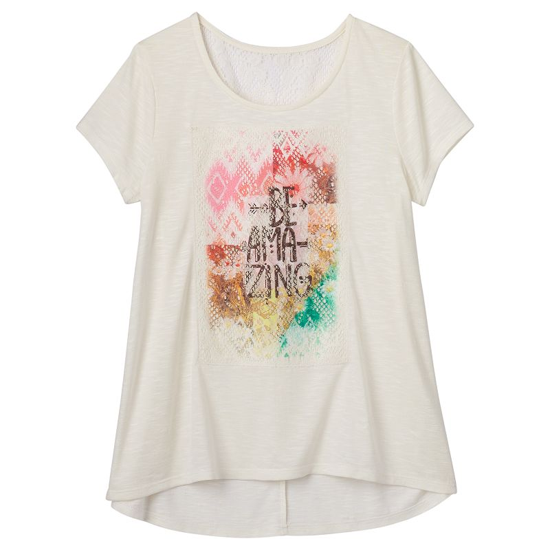 Girls 7-16 & Plus Mudd® High-Low Burnout Tee
