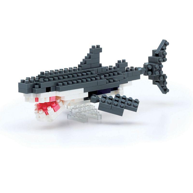 nanoblock Animals Level 3 Great White Shark 3D Puzzle