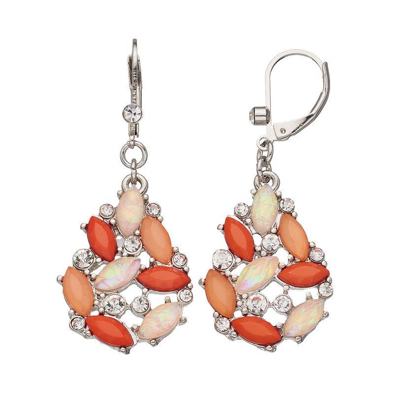 Simply Vera Vera Wang Marquise Cluster Drop Earrings