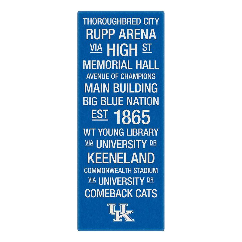 Kentucky Wildcats Subway Canvas Wall Art