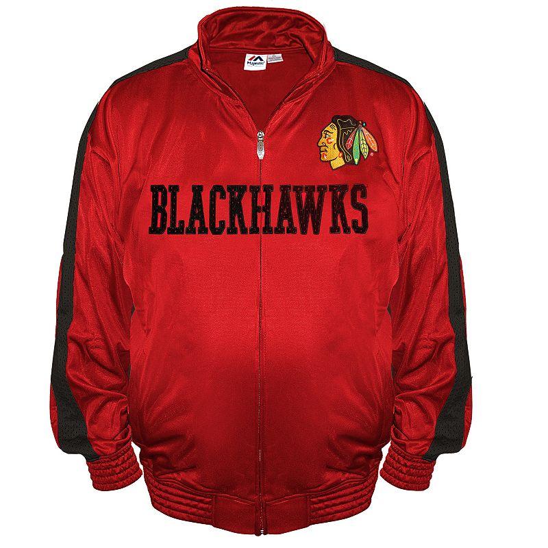 Big & Tall Majestic Chicago Blackhawks Tricot Track Jacket