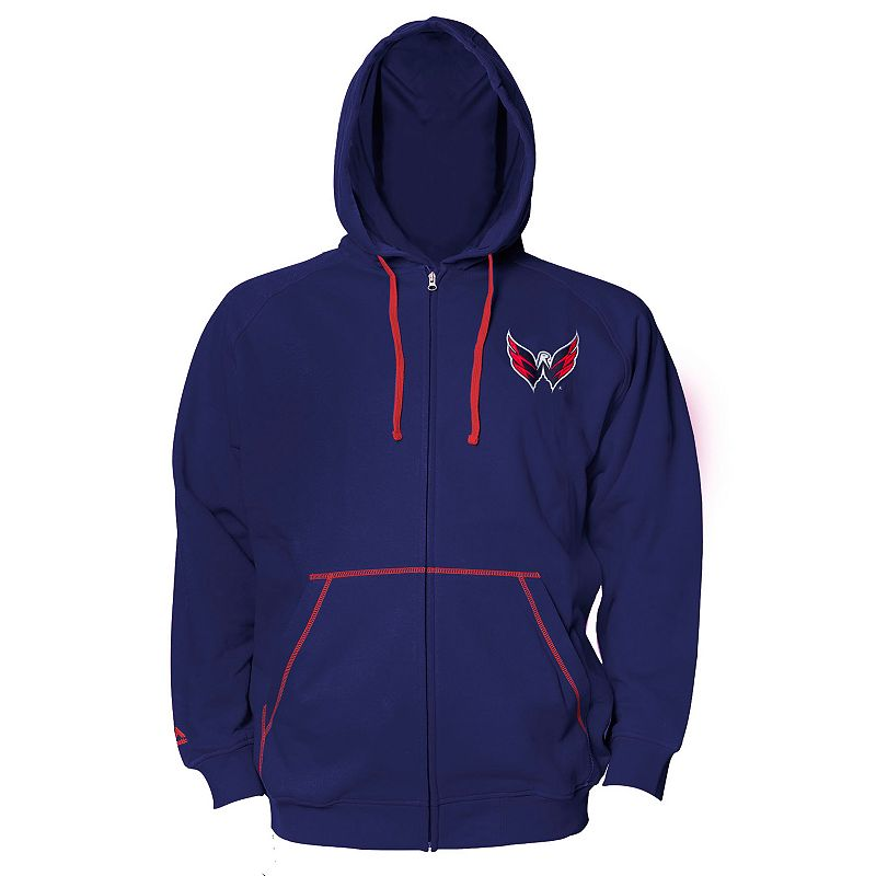 Big & Tall Majestic Washington Capitals Full-Zip Fleece Hoodie