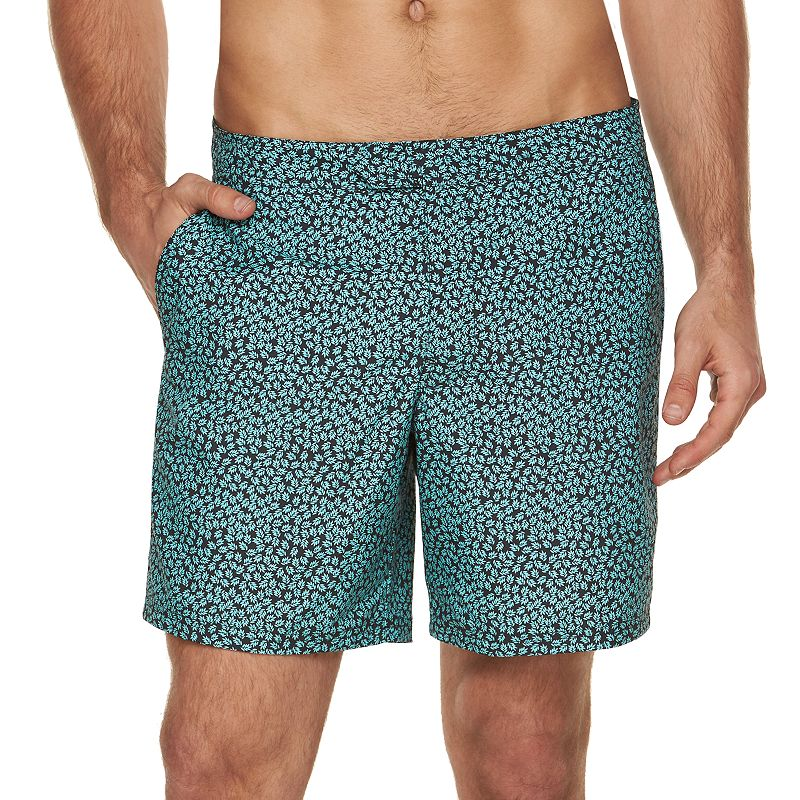 Men's Marc Anthony Slim-Fit Mini-Leaf Swim Shorts