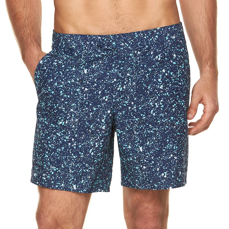 Men's Marc Anthony Slim-Fit Patterned Swim Shorts