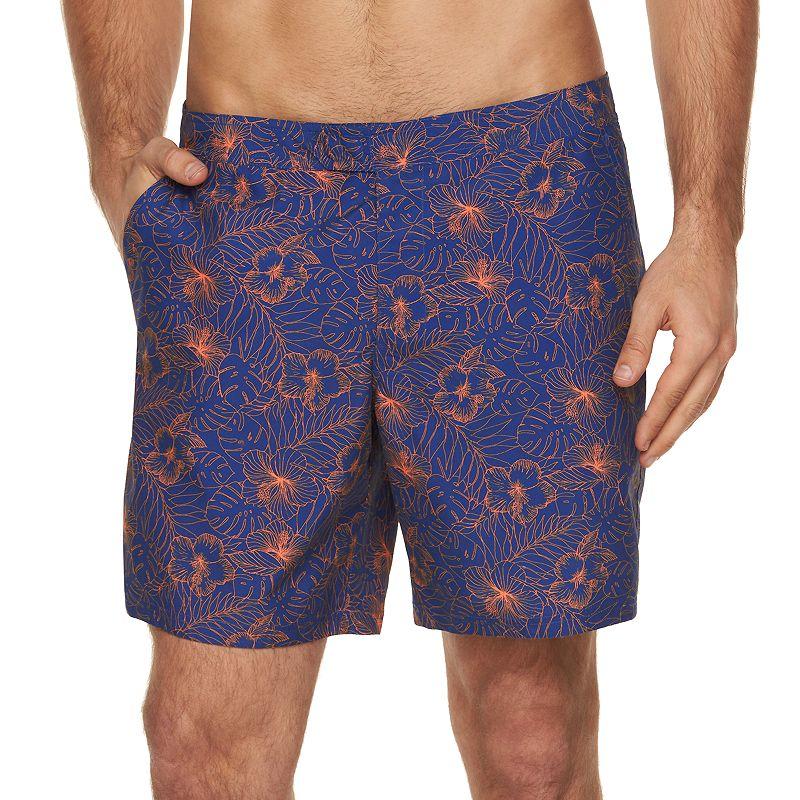 Men's Marc Anthony Slim-Fit Floral Swim Shorts