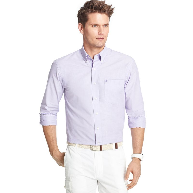 Men's IZOD Slim-Fit Solid Casual Button-Down Shirt