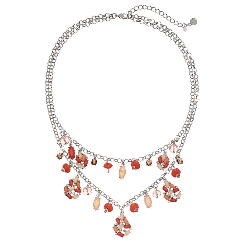 Simply Vera Vera Wang Marquise Cluster Double Strand Necklace