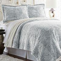 Serta Faux Fur Sherpa Reversible Comforter Set