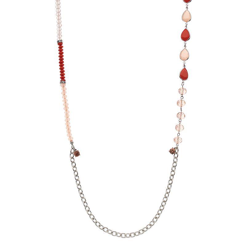 Simply Vera Vera Wang Long Teardrop Beaded Necklace