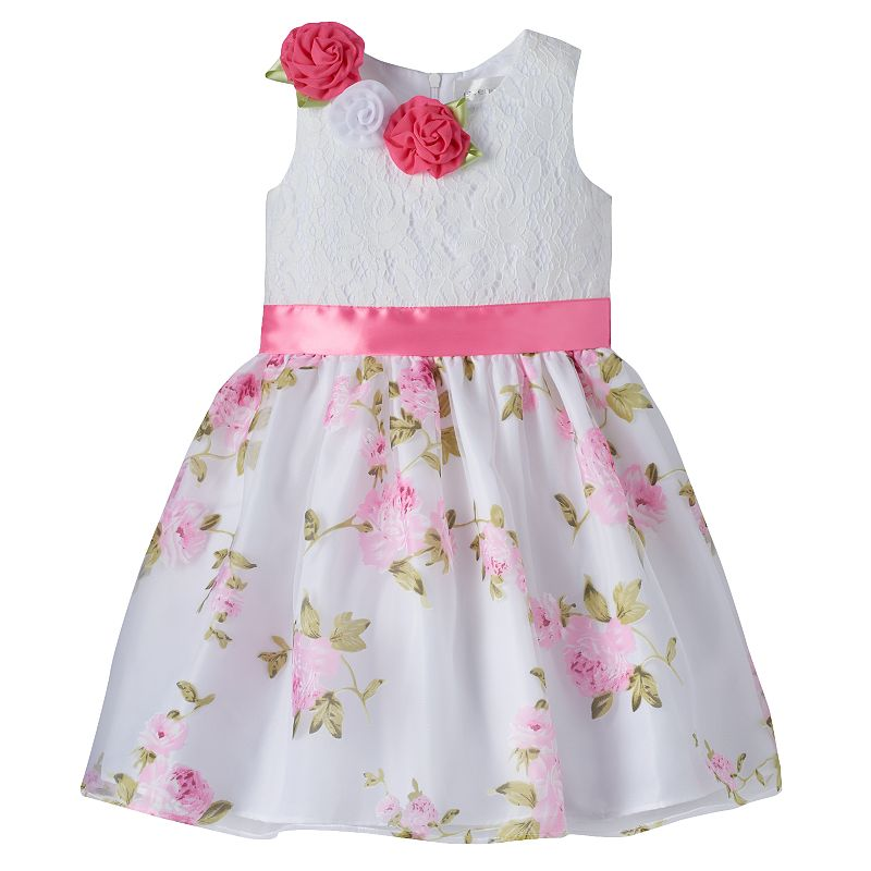 Girls 4-6x Lavender by Us Angels Floral Rosette Dress