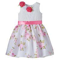 Toddler Girl Lavender by Us Angels Floral Rosette Dress